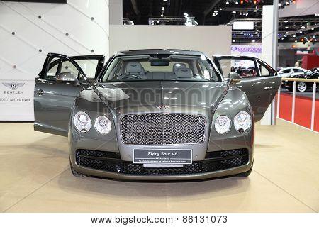 BANGKOK - MARCH 25: Bentley Flying Spur V8 car on display at The 36 th Bangkok International Motor S