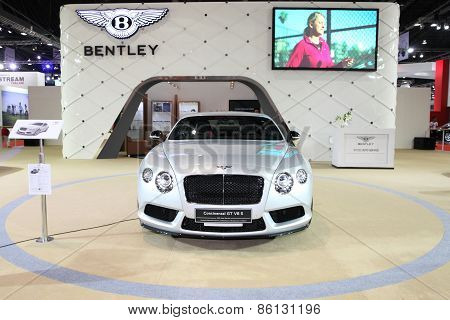 BANGKOK - MARCH 25: Bentley Continental GT V8 S car on display at The 36 th Bangkok International Mo