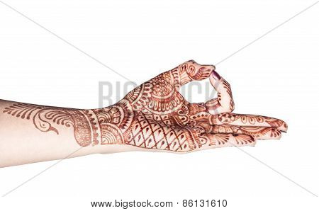 Meditation Mudra With Henna