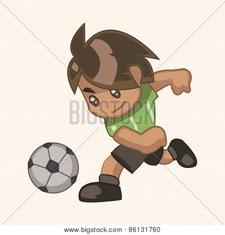 Sport Soccer Player Theme Elements