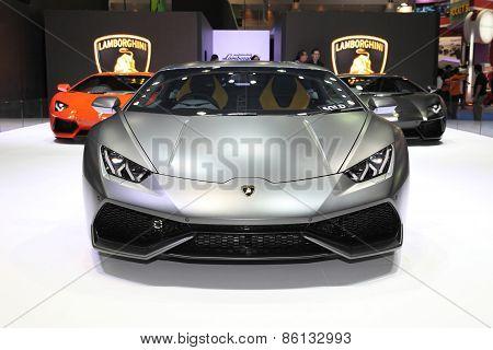 BANGKOK - MARCH 25: Lamborghini car on display at The 36 th Bangkok International Motor Show on Marc