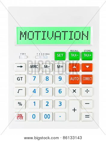Calculator With Motivation