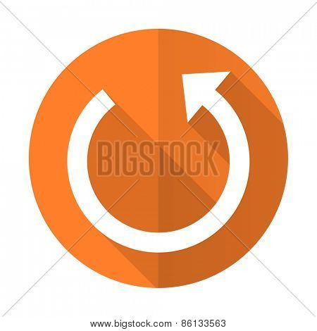 rotate orange flat icon reload sign