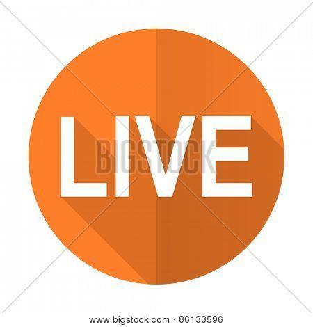 live orange flat icon