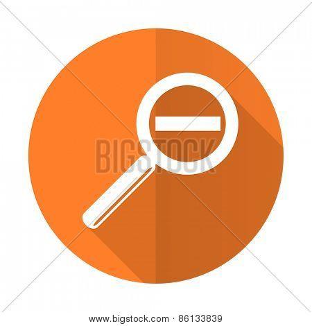 lens orange flat icon