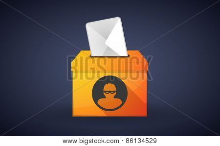 Ballot Box With A Vote And A Thief