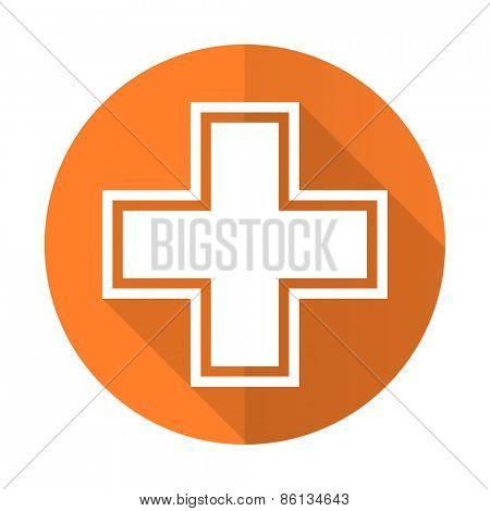 pharmacy orange flat icon