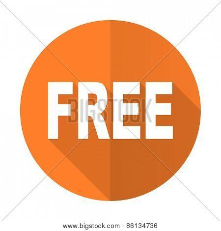 free orange flat icon