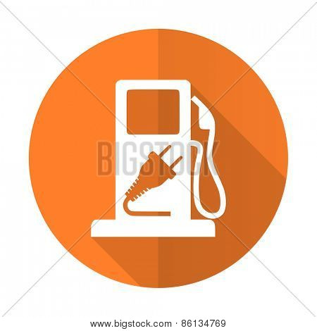 fuel orange flat icon hybrid fuel sign