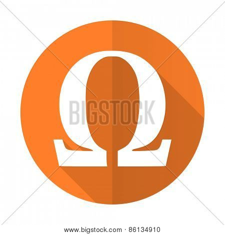 omega orange flat icon
