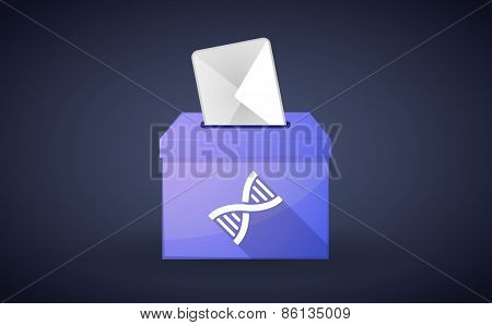 Ballot Box With A Vote And A Dna Sign