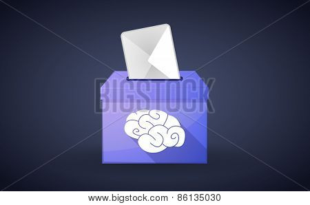Ballot Box With A Vote And A Brain