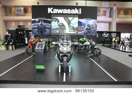 BANGKOK - MARCH 25: Kawasaki motorcycles on display at The 36 th Bangkok International Motor Show on
