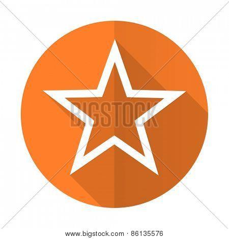 star orange flat icon