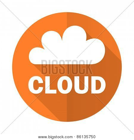 cloud orange flat icon