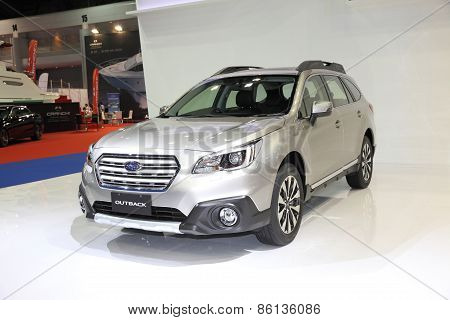 BANGKOK - MARCH 25: Subaru Outback car on display at The 36 th Bangkok International Motor Show on M