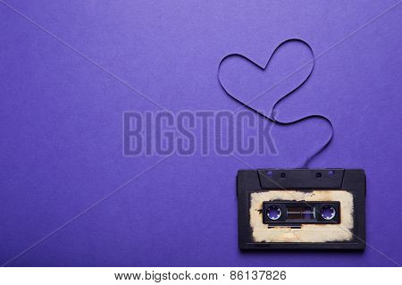 Audio Cassette With Magnetic Tape