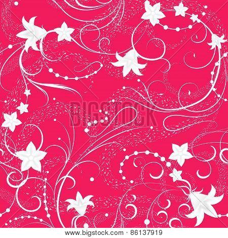 Pink wallpaper.