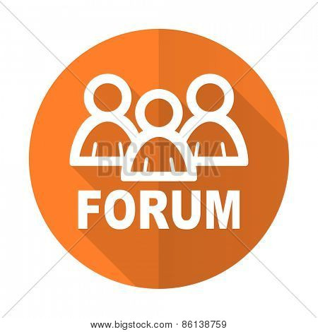 forum orange flat icon