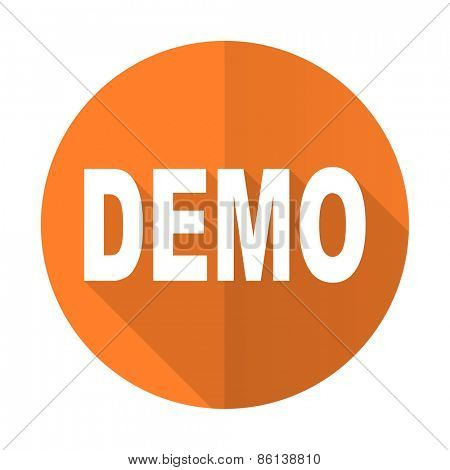 demo orange flat icon