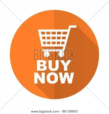 buy now orange flat icon