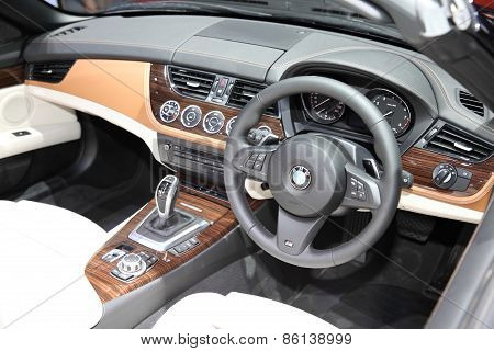 Bangkok - March 24: Console Of Bmw Car At The 36 Th Bangkok International Motor Show On March 24, 20
