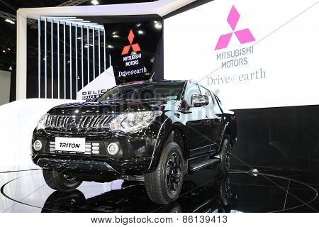 Bangkok - March 24: Mitsubishi All New Triron  Car On Display At The 36 Th Bangkok International Mot