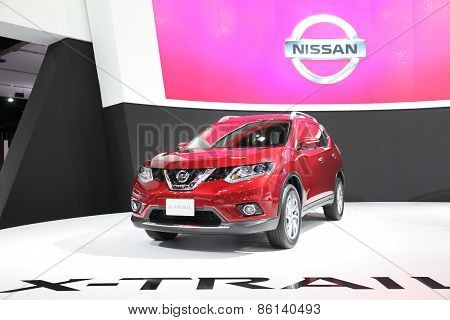 BANGKOK - MARCH 25: Nissan X-trail car on display at The 36 th Bangkok International Motor Show on M