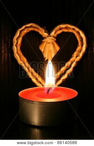 Candle And Heart
