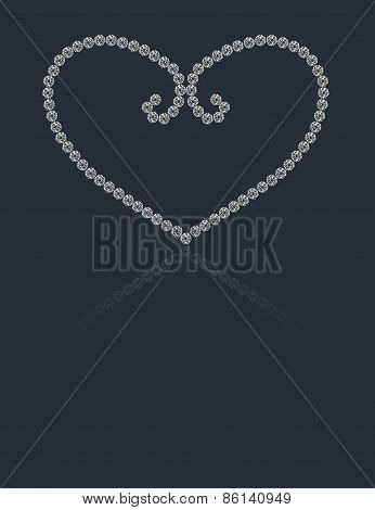 Beautiful round diamonds heart