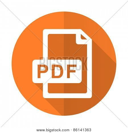 pdf file orange flat icon