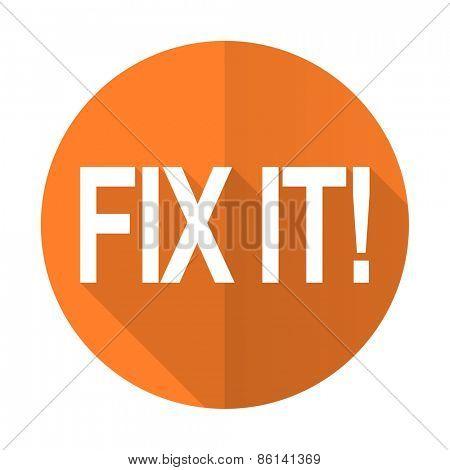 fix it orange flat icon