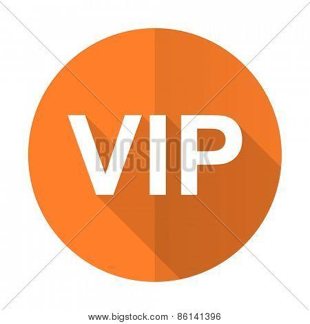 vip orange flat icon