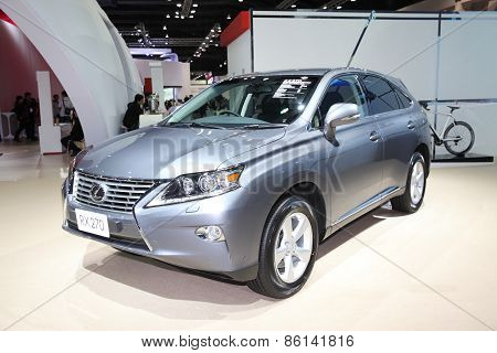 BANGKOK - MARCH 25:Lexus RX 270 car on display at The 36 th Bangkok International Motor Show on Marc