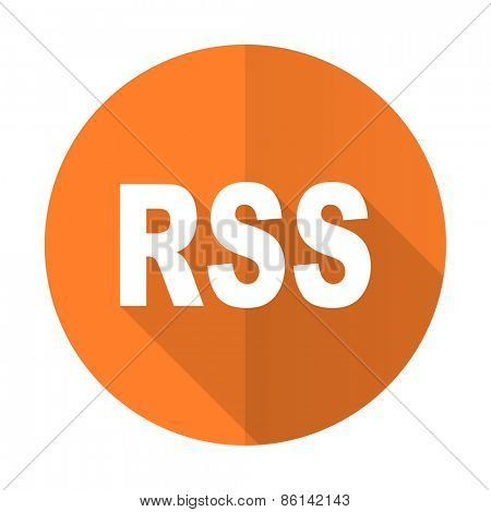 rss orange flat icon