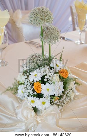 Decoration of wedding table, catering.