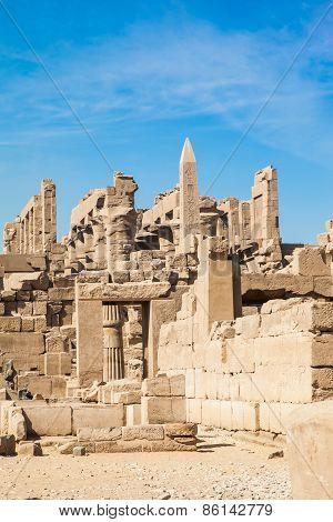 Ancient Karnak Temple In Luxor