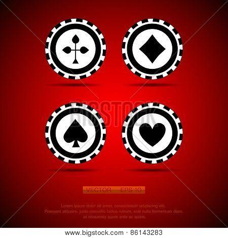 black casino chip