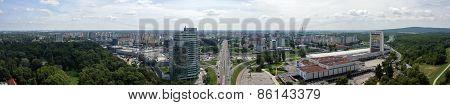 Panoramic View Of Bratislava. New Town.
