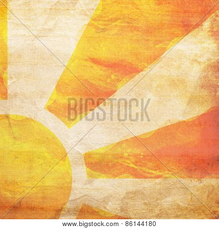 Sunbeams Grunge Background With Stains