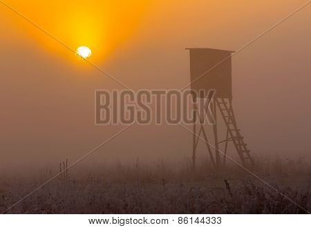 Sunrise Over Raised Hide