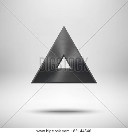 Black Abstract Triangle Button Template
