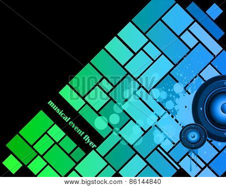 Colorful Urban Music Background for Disco flayers. Ideal for posters, flayers and event.
