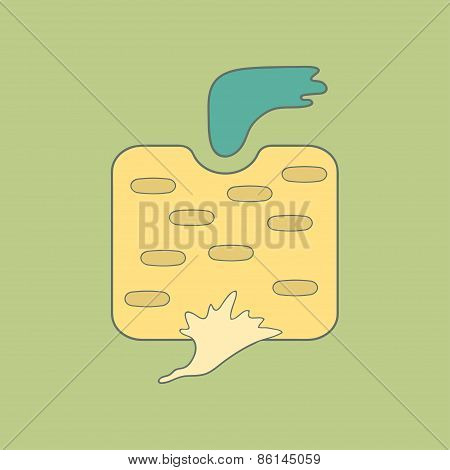 Stylized illustration turnip flat icon isolated on color background