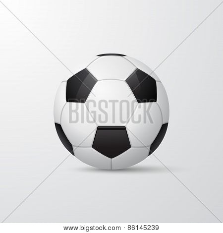 Traditional Soccer Ball. Vector Illustration.