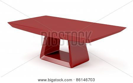 Red Stylish Coffee Table