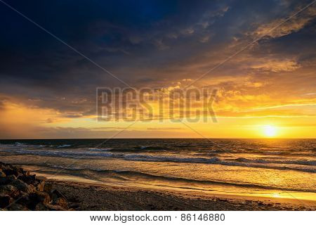 Sunset at the beach