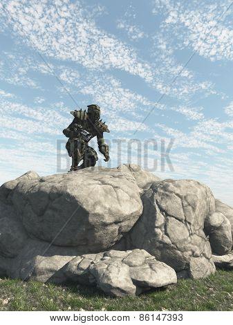 Alien Ranger Scout Exploring