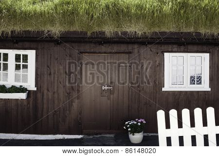 Grass-roofed house, Faroe Islands
