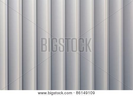 White sliver corrugated metal
